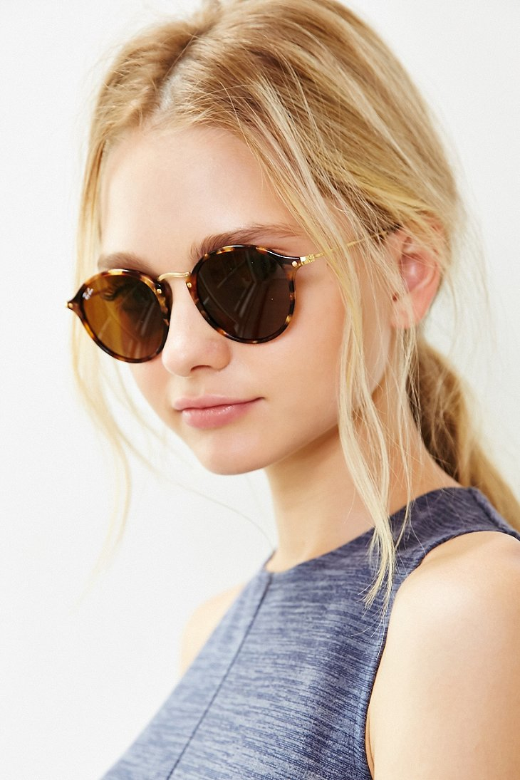 ray ban outlet tanger  ray ban gold icon round sunglasses product 1 325110070 normal.jpeg