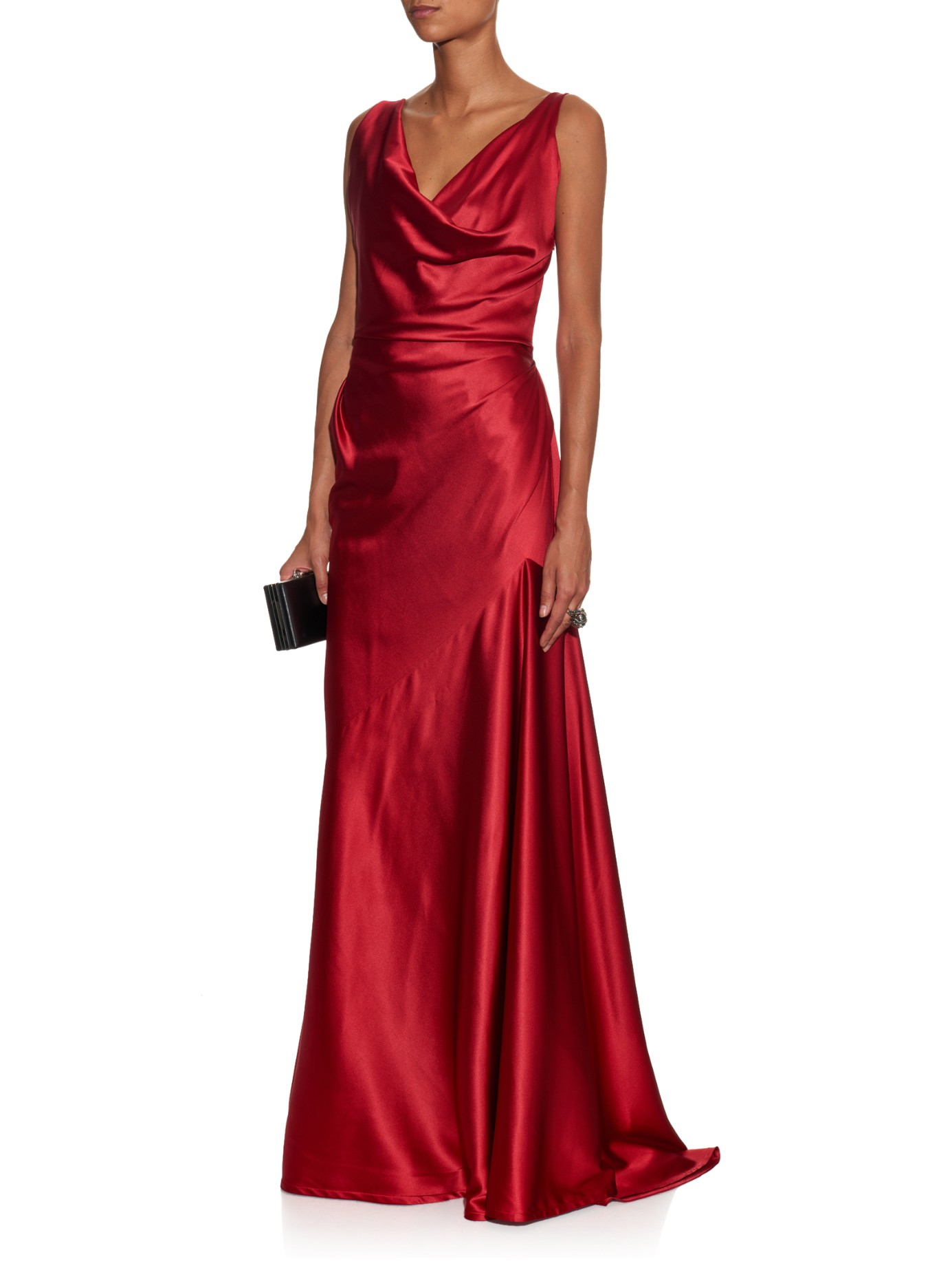 41c37c00eb1 Vivienne Westwood Red Label Amber Stretch-satin Gown in Red - Lyst