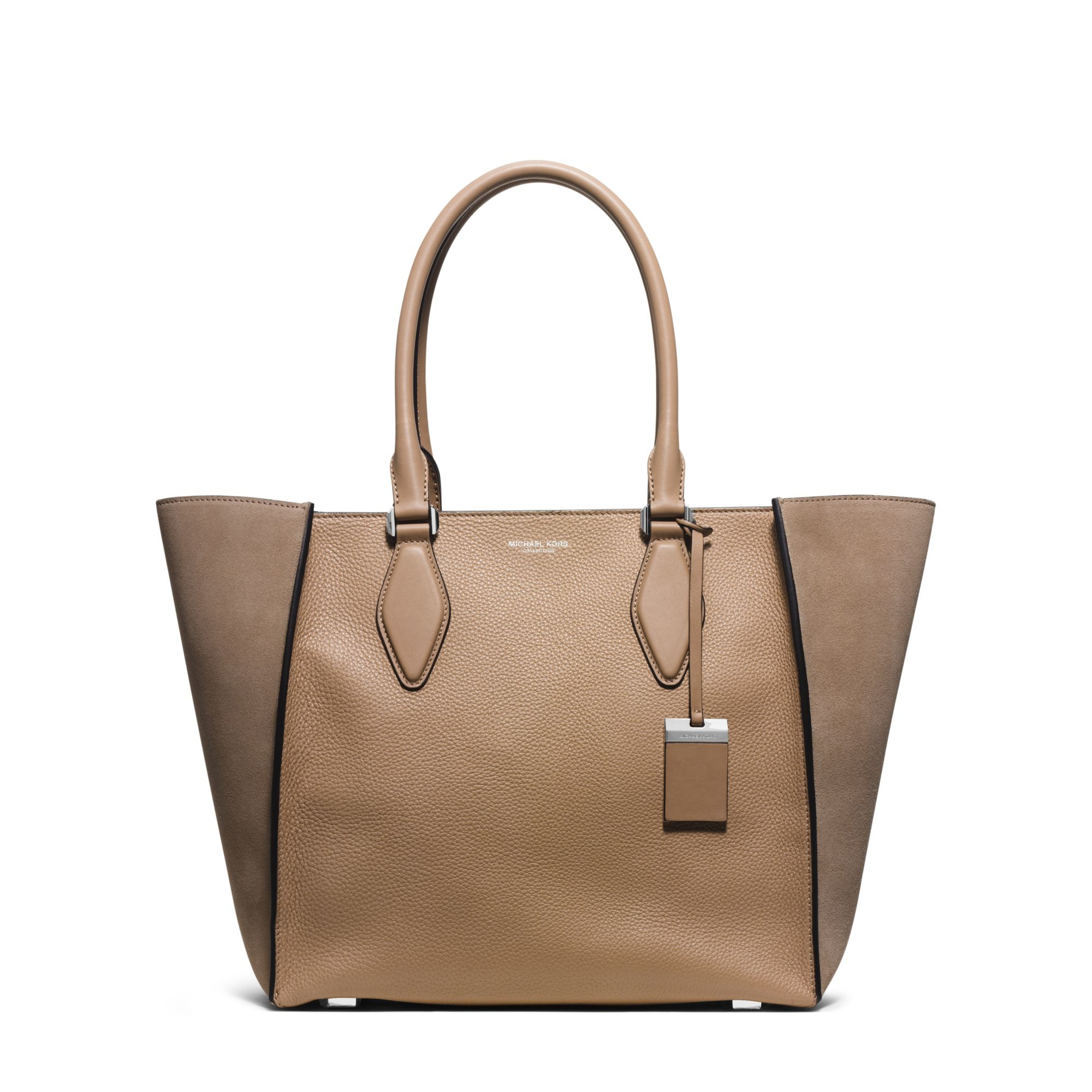 1e97aa55d507 Lyst - Michael Kors Gracie Large Suede And Leather Tote in Brown