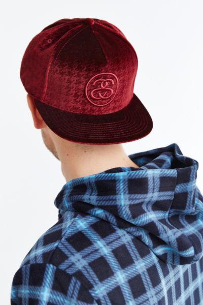 805899d8 sale stussy x uo velvet baseball hat 4668f 56fc1; inexpensive lyst stussy  pattern velvet strapback hat in purple for men d6040 79f42