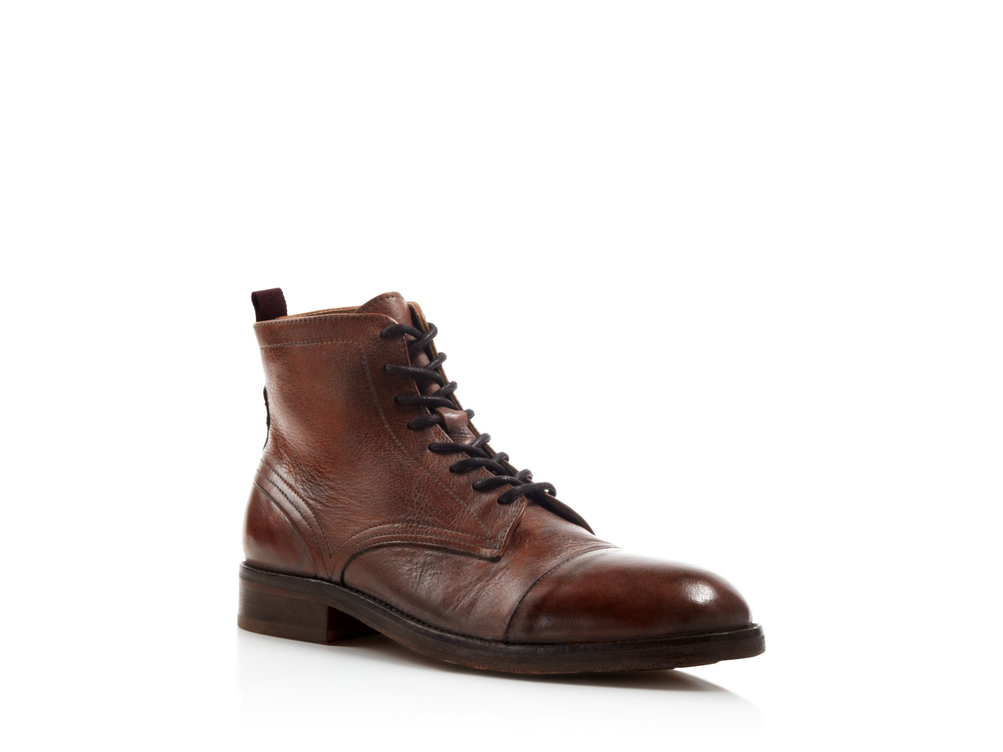 h by hudson palmer cap toe boots in brown lyst