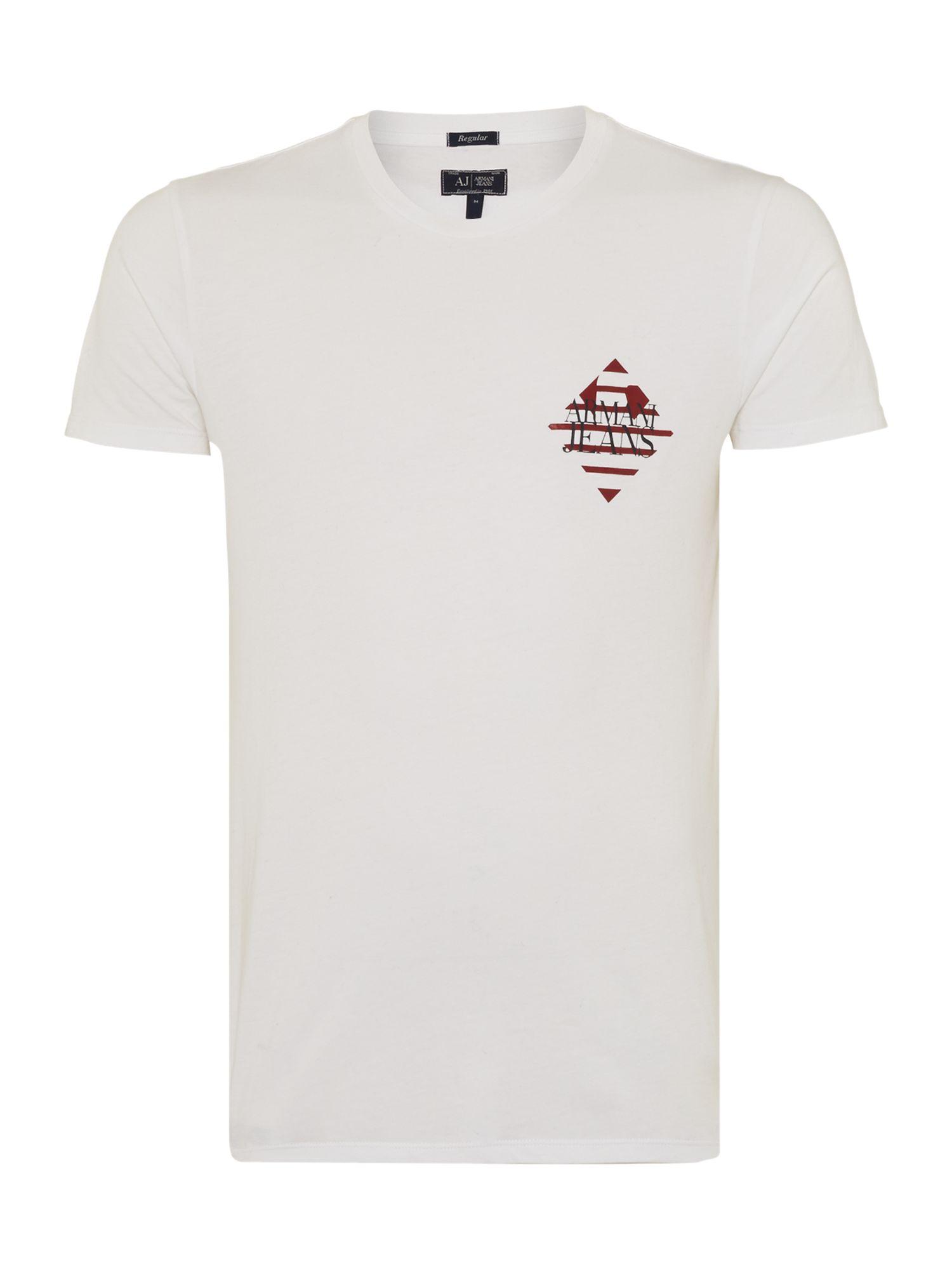 Lyst armani jeans armani pocket logo print t shirt in for Print logo on shirt