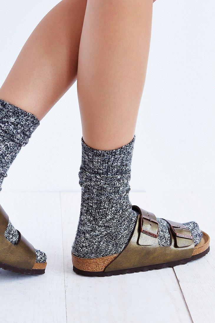bc711927002 Birkenstock Arizona Soft Footbed Metallic Sandal in Metallic - Lyst