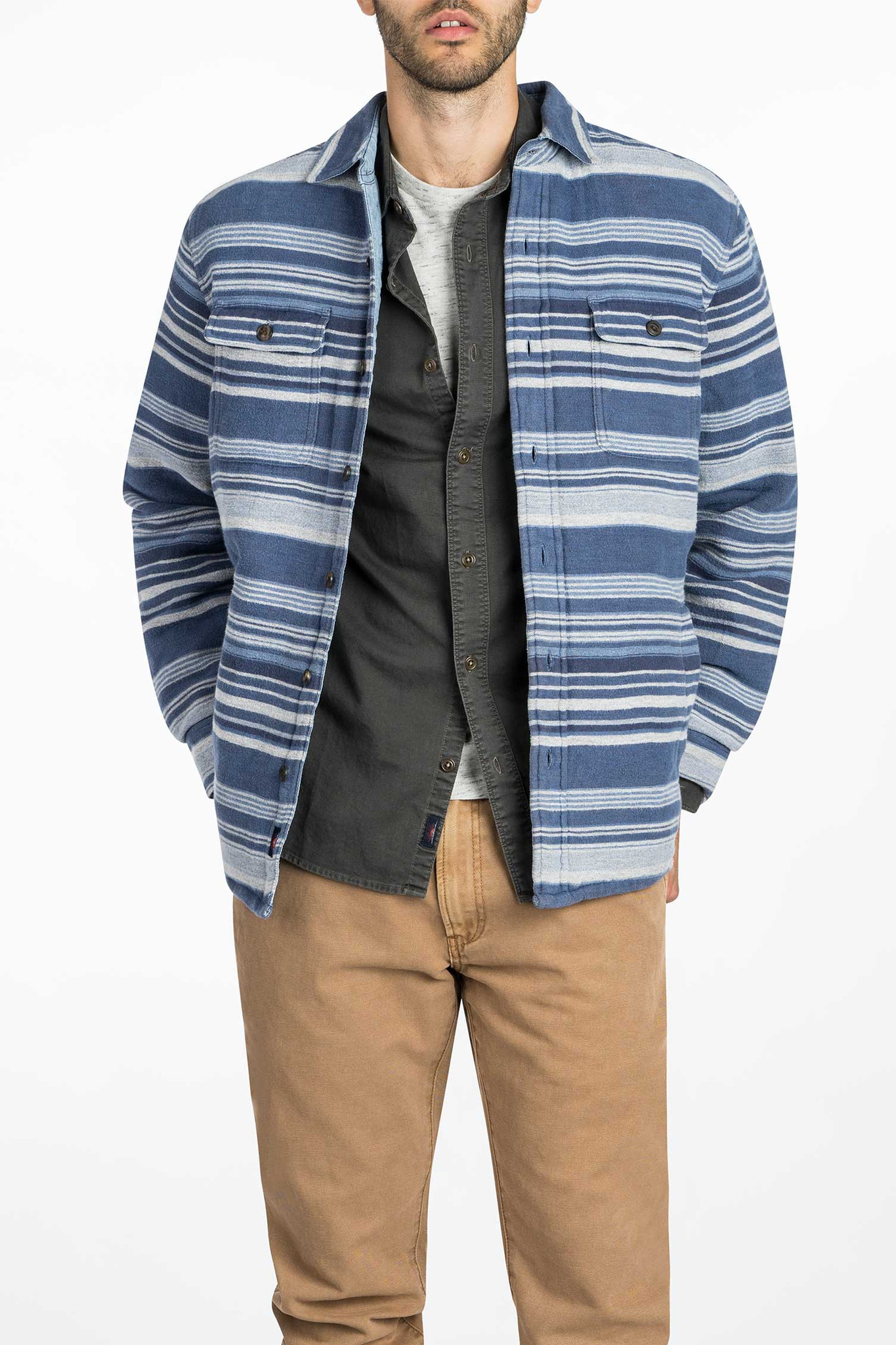 Lyst Faherty Brand Quilted Durango Cpo Jacket In Blue