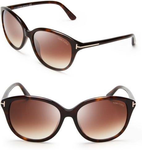 tom ford brown karmen cat eye sunglasses lyst. Cars Review. Best American Auto & Cars Review