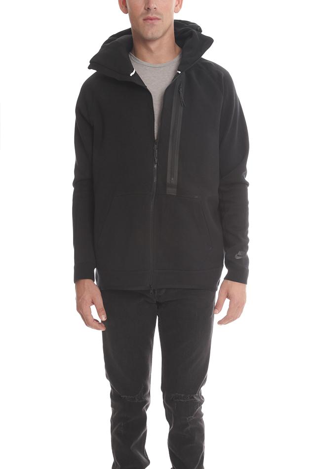 Nike Tech Fleece Full Zip Hoody in Black for Men | Lyst
