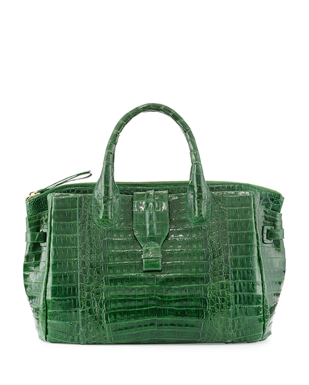 Nancy gonzalez large crocodile tote bag in green kelly for Nancy gonzalez crocodile tote