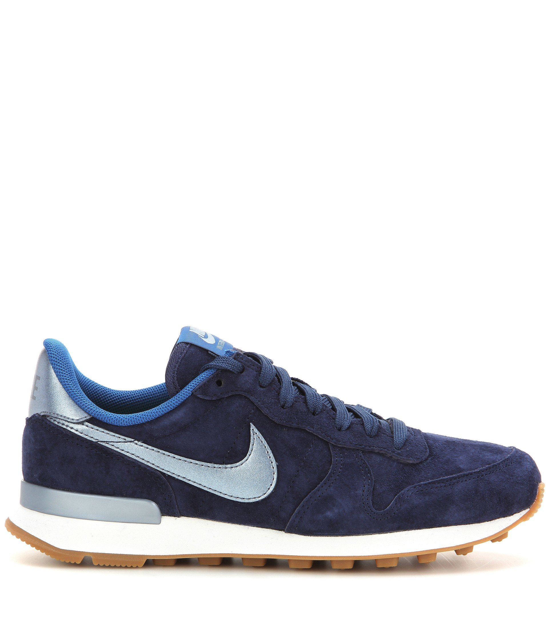 another chance b2099 6c23a ... internationalist premium 61800 5e48b  netherlands nike internationalist  suede sneakers in blue lyst 80e6a 4651b