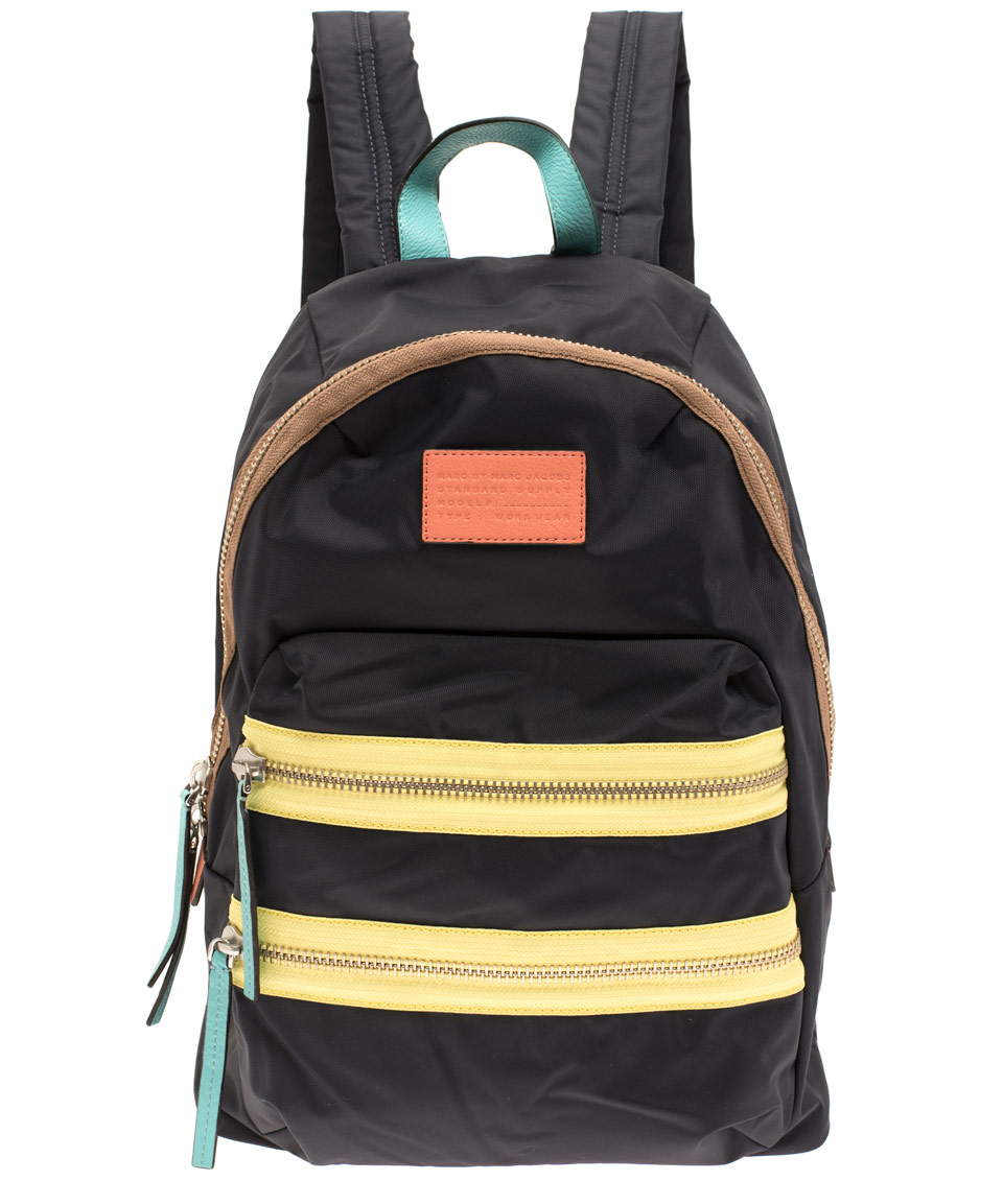 lyst marc by marc jacobs blue domo arigato rucksack in black. Black Bedroom Furniture Sets. Home Design Ideas