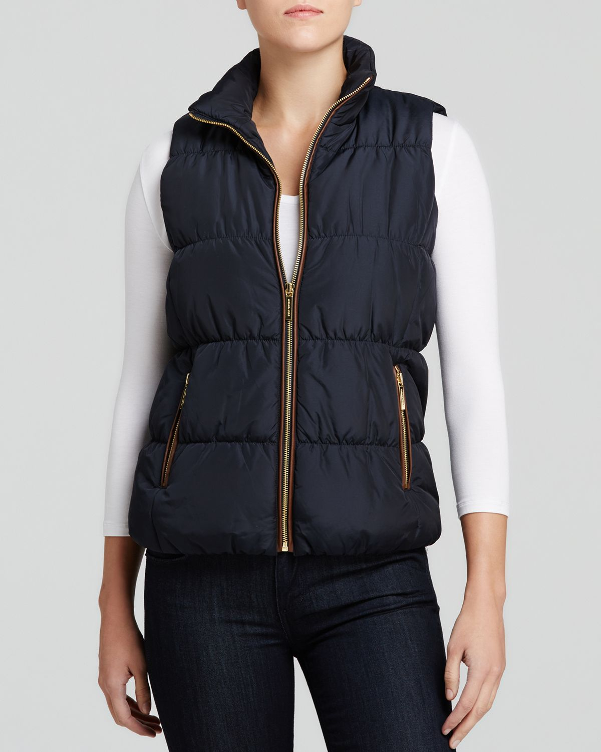 Michael Michael Kors Quilted Puffer Vest in Blue (New Navy ...
