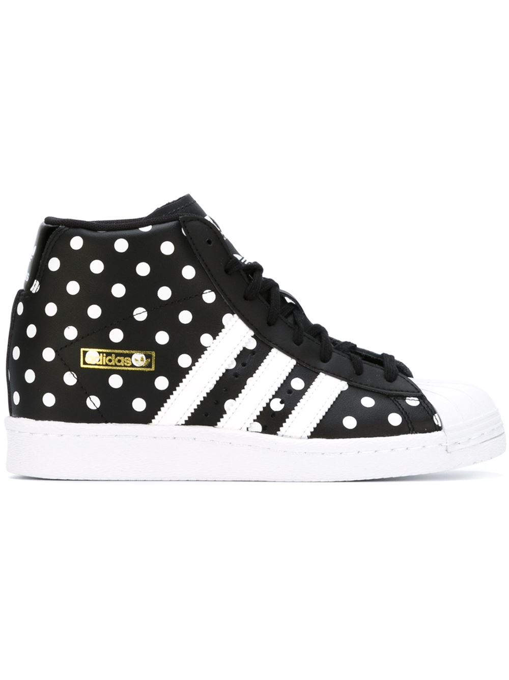 check out 526c2 f6a64 adidas  superstar Up  Hi-top Sneakers in Black - Lyst