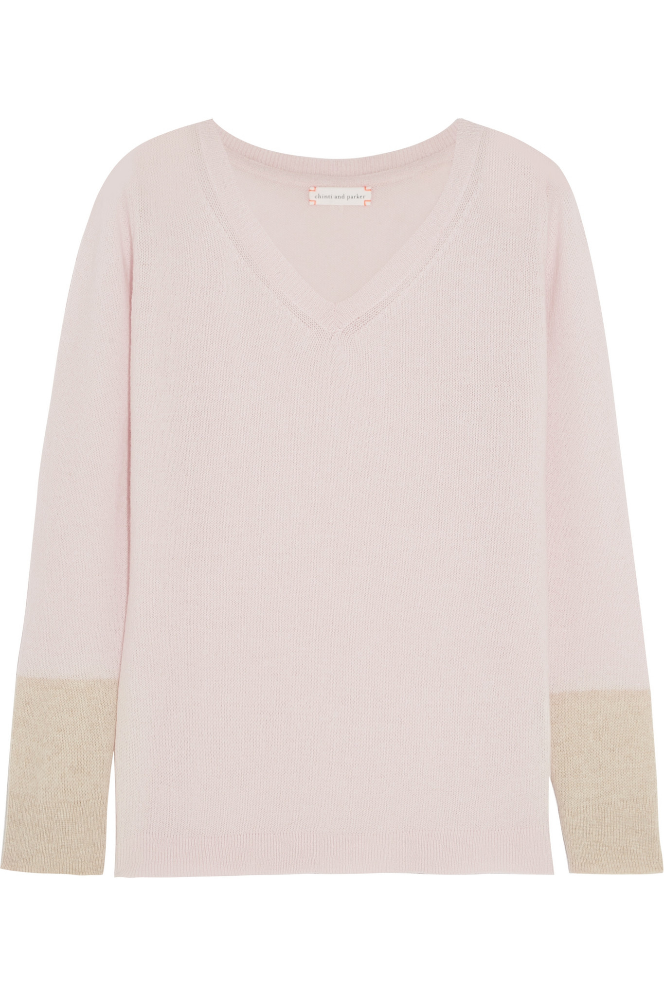 Lyst Chinti Parker Contrast Cuff Cashmere Sweater In Pink