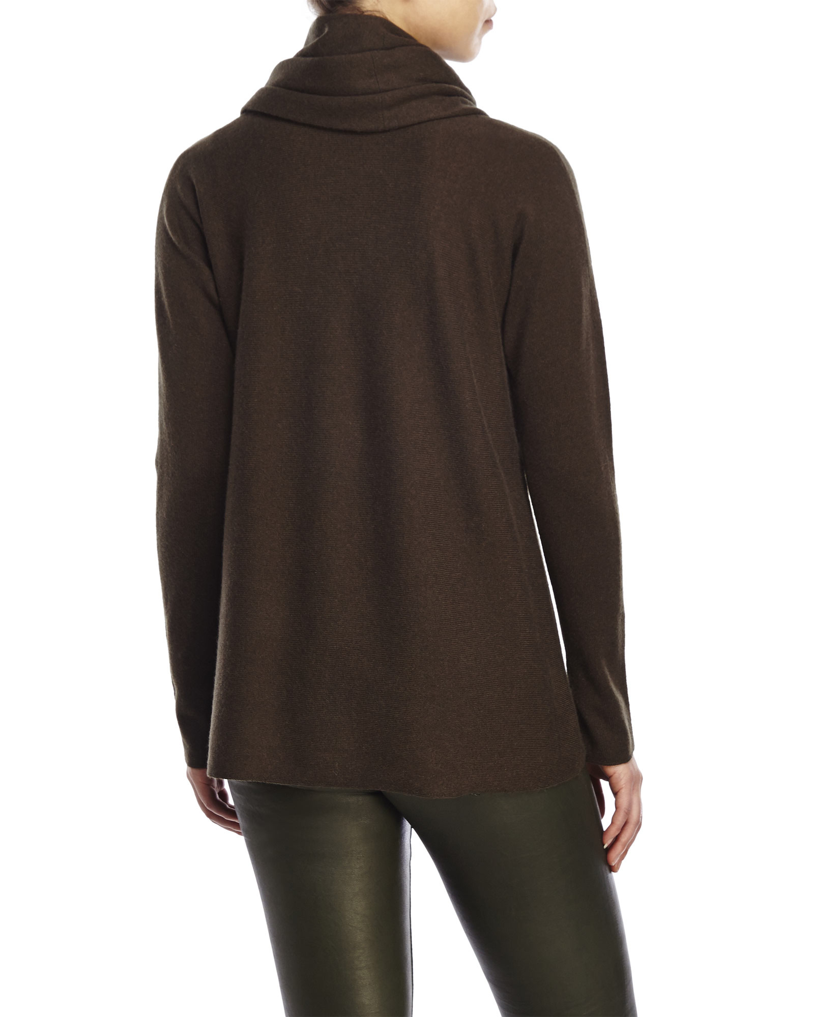 Vince Cowl Neck Sweater in Green | Lyst
