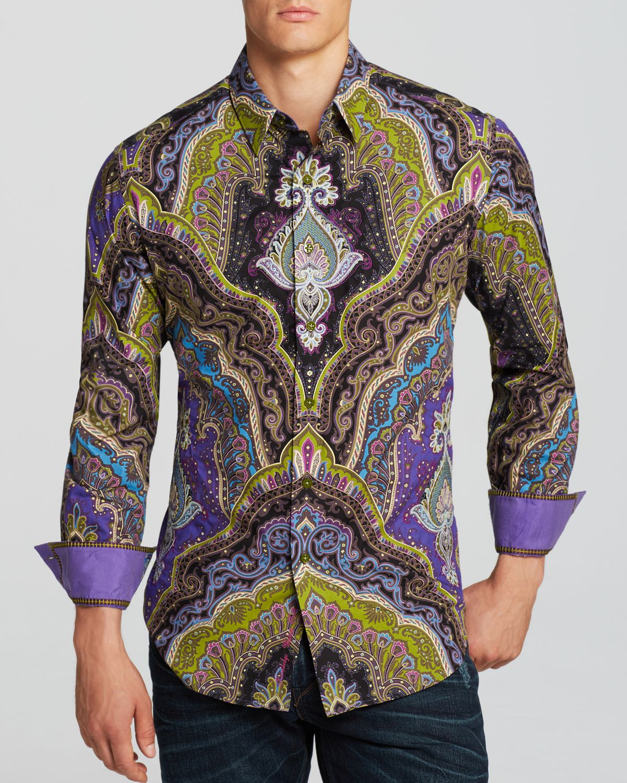 Lyst robert graham virgil woven button down shirt for Robert graham tall shirts