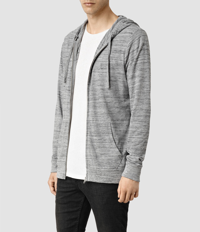 Lyst - AllSaints Andromeda Hoody in Gray for Men 52b0e9f9126
