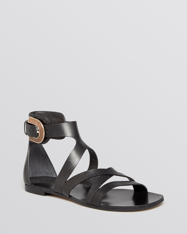ad586971690a Lyst - Sigerson Morrison Flat Gladiator Sandals Cadee in Black