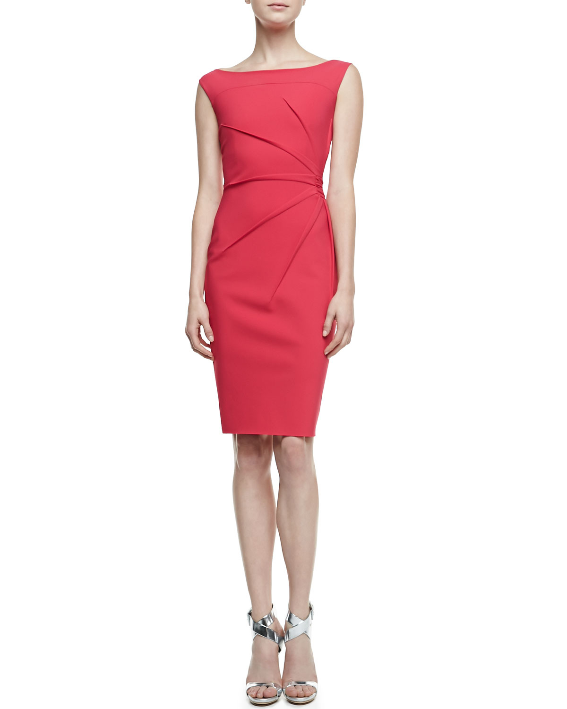 la petite robe di chiara boni rachela sleeveless burstside cocktail dress in pink 408 lampone. Black Bedroom Furniture Sets. Home Design Ideas