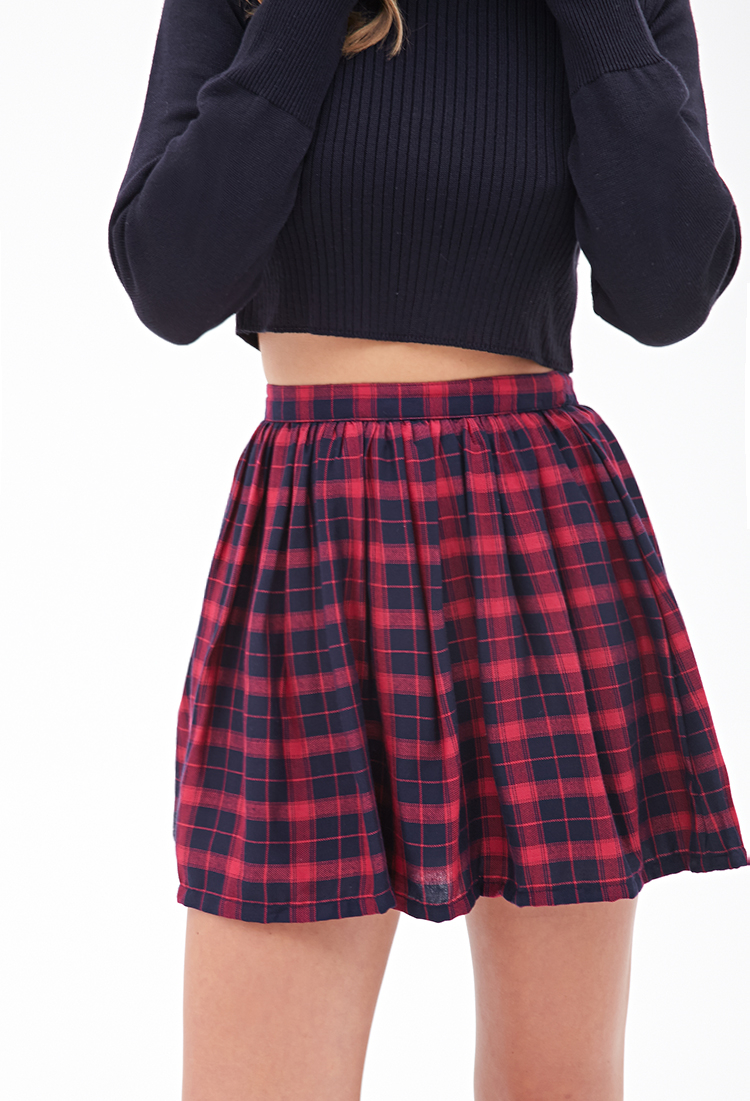 Lyst Forever 21 Plaid Mini Skirt You Ve Been Added To