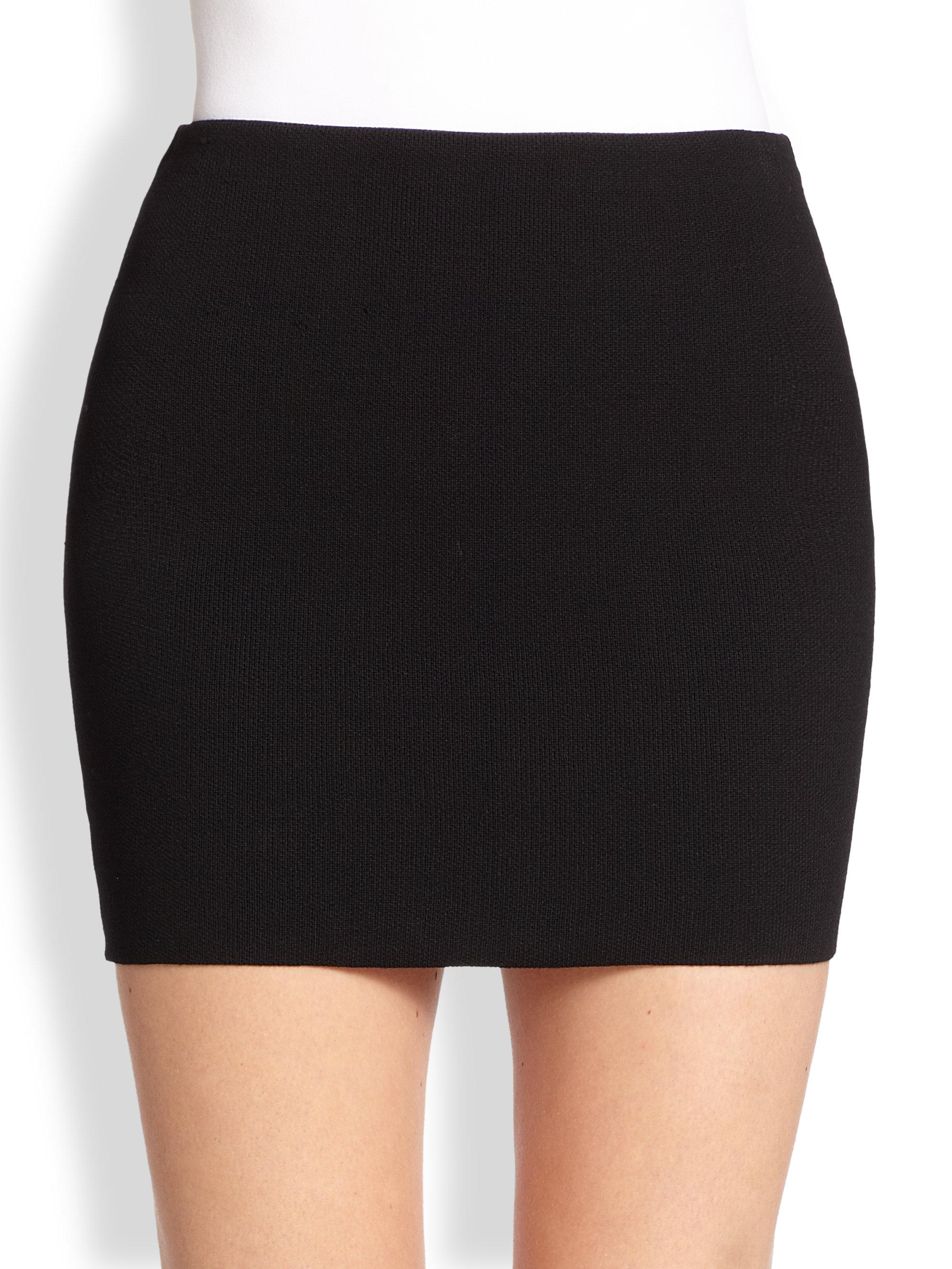 Rvn Knit Mini Skirt in Black | Lyst