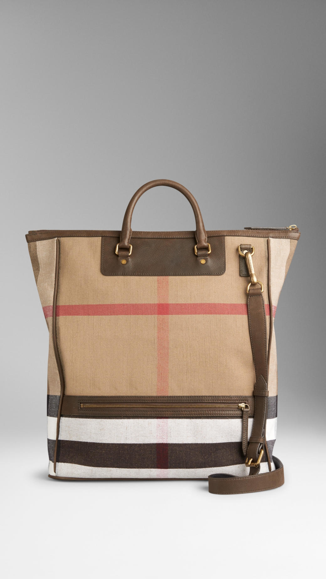 2fffc8595 Burberry Large Canvas Check And Leather Tote Bag in Brown for Men - Lyst