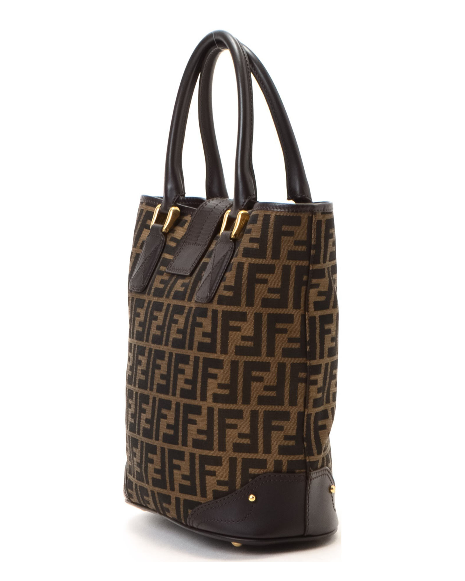 08476a87b97d ... low price lyst fendi brown tote bag vintage in brown d8298 3d84e