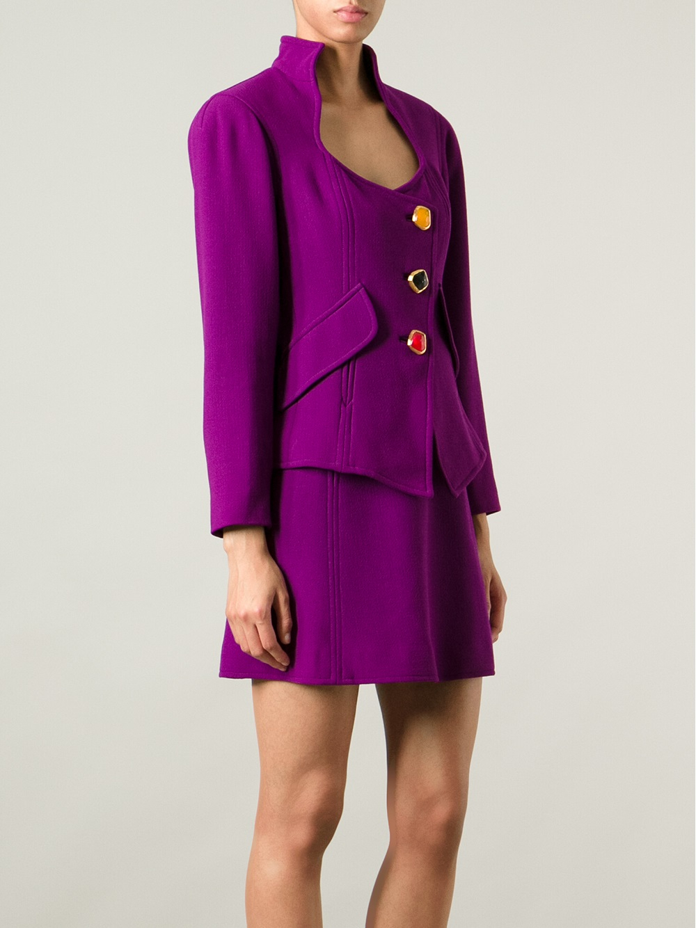 Lyst - Christian Lacroix Skirt And Jacket Suit in Purple