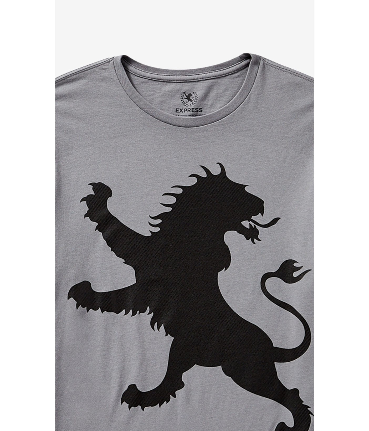 44591292ce770 Express Gray Exploded Lion Graphic Tee in Gray for Men - Lyst