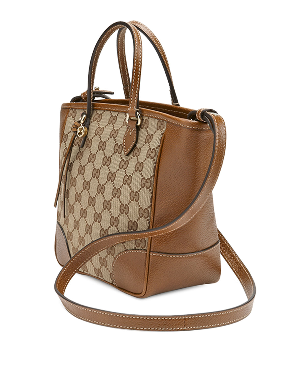 09bb5a79a03f Gucci Bree Small Gg Canvas Tote Bag in Brown - Lyst