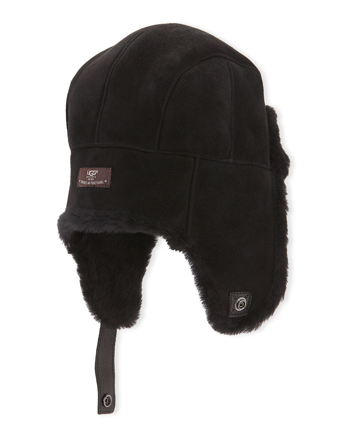 b86bf8a4f11dc UGG Sheepskin Shearling Trapper Hat in Black for Men - Lyst