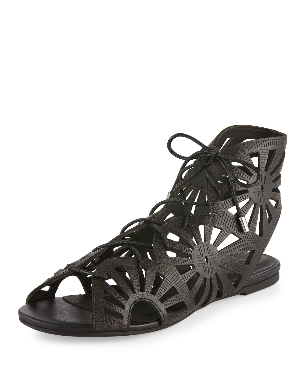 bf98c1150eb Lyst - Joie Teagan Laser-cut Leather Sandal in Gray