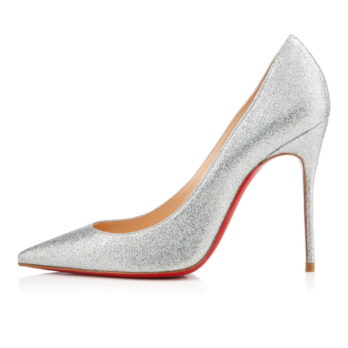 louboutin shoes cost - Christian louboutin Decollete Glitter Mini in Silver | Lyst