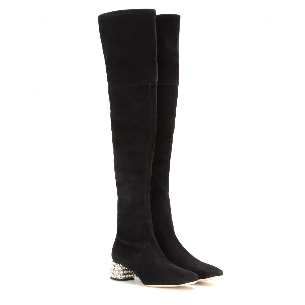Miu Miu Over-The-Knee Sock Boots tEYWpl