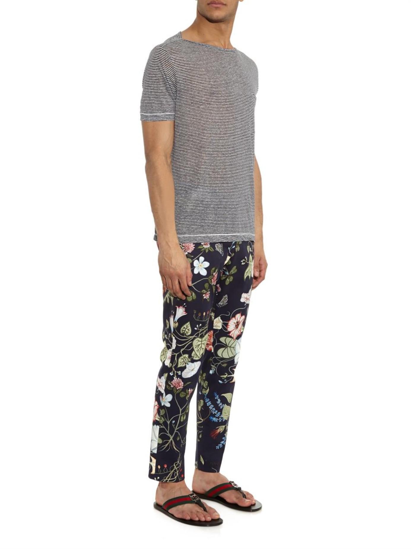 9c6fdd3581f4d Lyst - Gucci Web Thong Flip-Flops in Black for Men