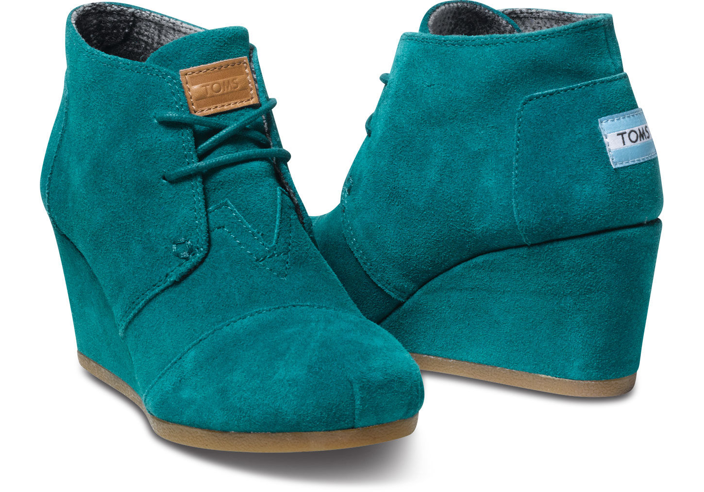Lyst - Toms Suede Womens Desert Wedges in Green