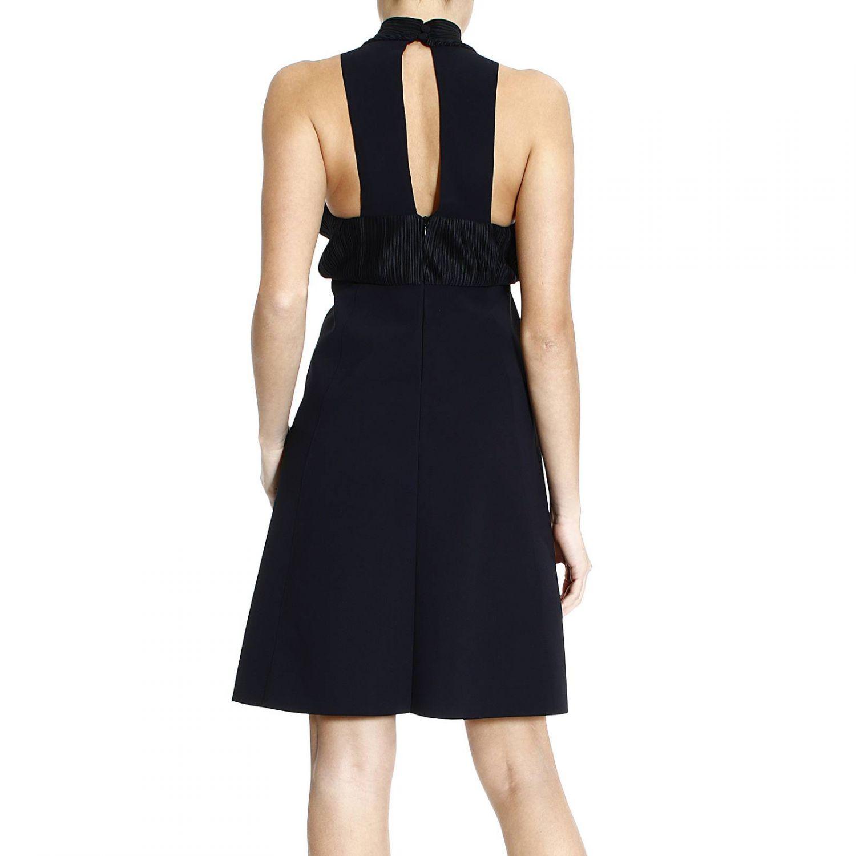 Giorgio armani Dress Sleeveless Halter Neck With Plisset in Black ...