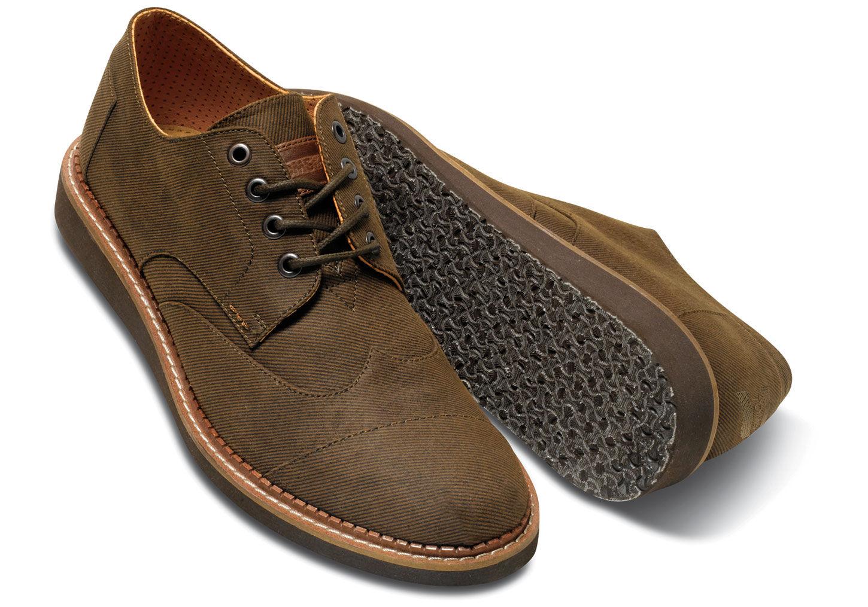 7096ba50da3 Lyst - TOMS Chocolate Aviator Twill Men s Brogues in Brown for Men