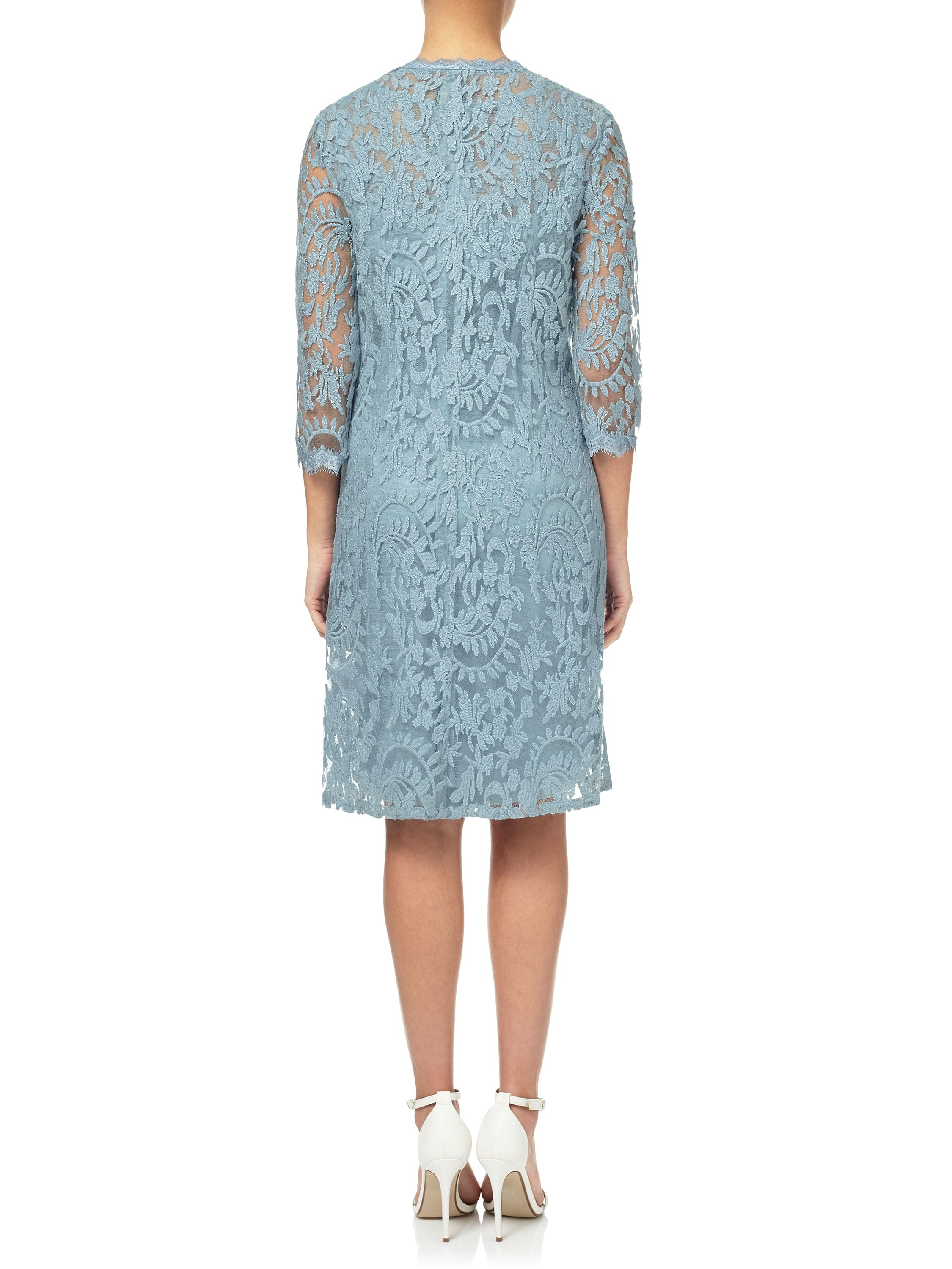 Adrianna papell Lace Cocktail Dress And Coat Set in Green | Lyst