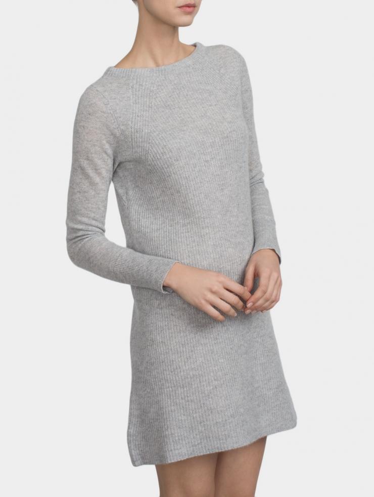 Lyst White Warren Cashmere Shaker Knit Dress In Gray