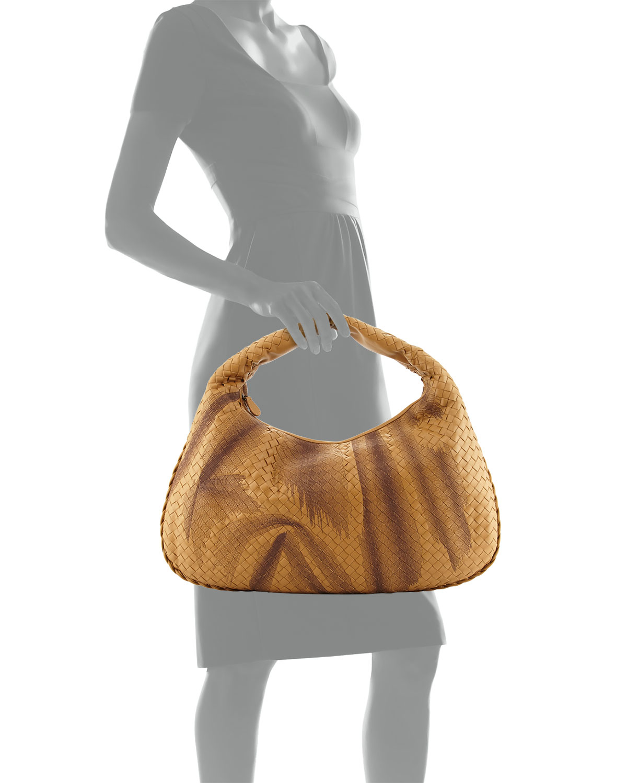 a1a490183d Lyst - Bottega Veneta Veneta Intrecciato Large Shadow Hobo Bag in ...
