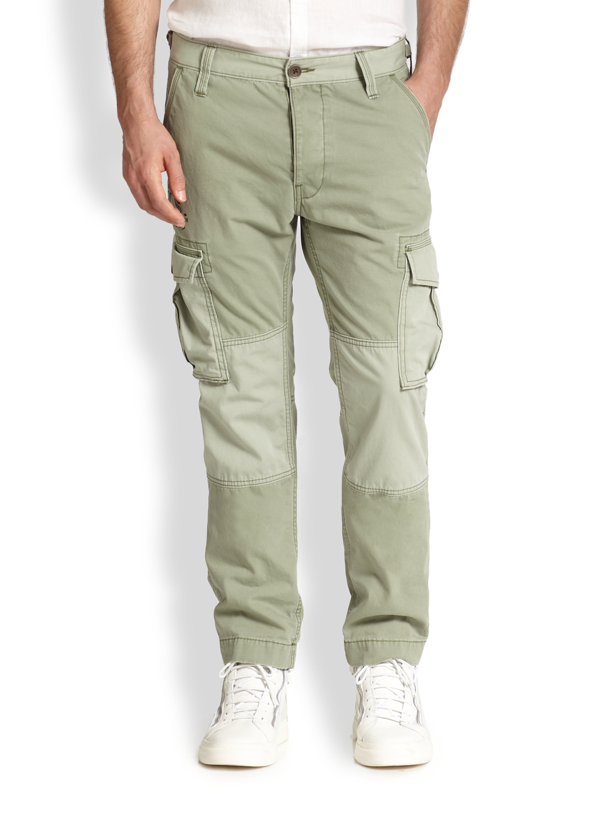 True religion Special Ops Cargo Pants in Green for Men | Lyst