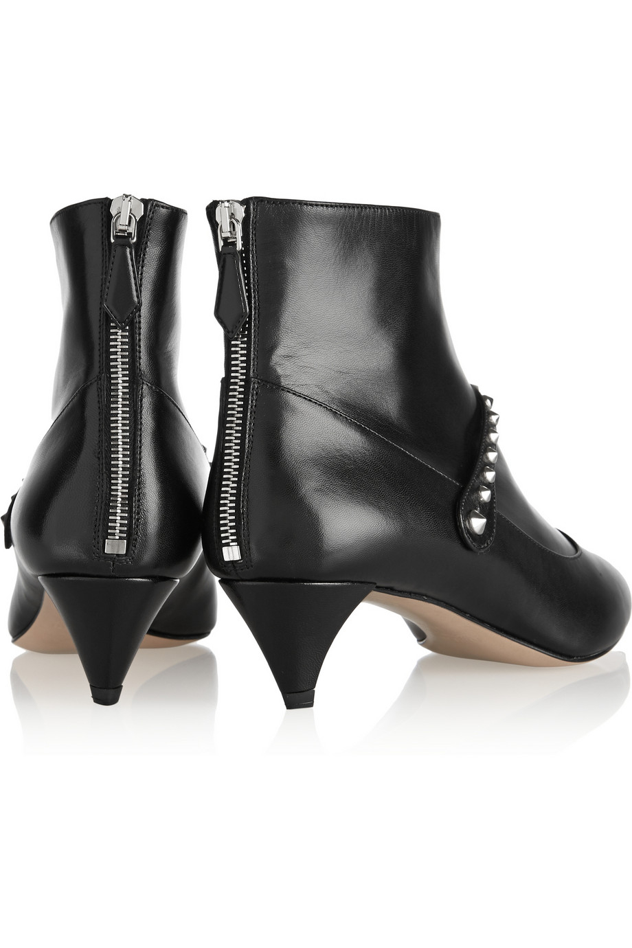 where can i order clearance in China Miu Miu Leather Spiked Boots popular for sale free shipping best wholesale Z6Gv5Fzov