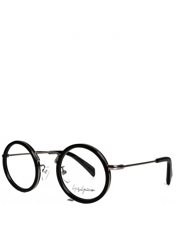 0446d301c98 Yohji Yamamoto Round Frame Clear Lenses Glasses Black in Black for ...