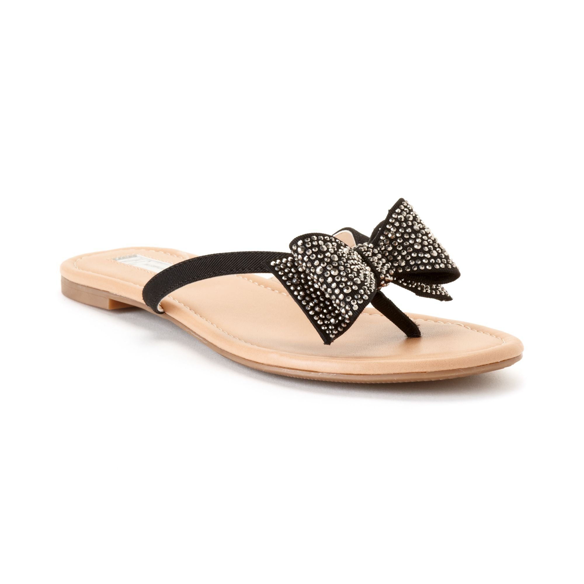 11839dee6304 Lyst - INC International Concepts Womens Maey Bow Thong Sandals in Black