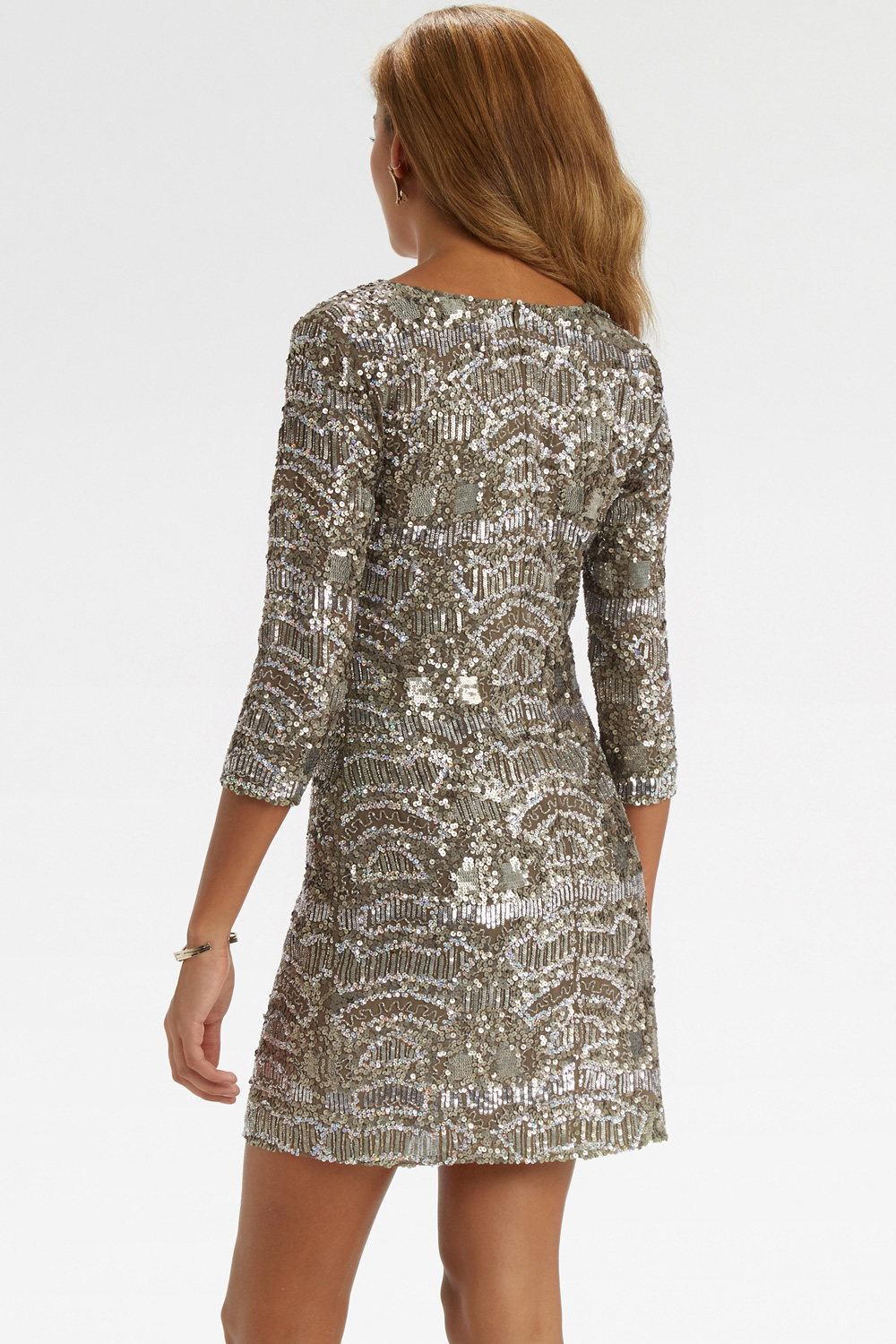 Oasis Sequin Embellished Dress in Metallic  Lyst