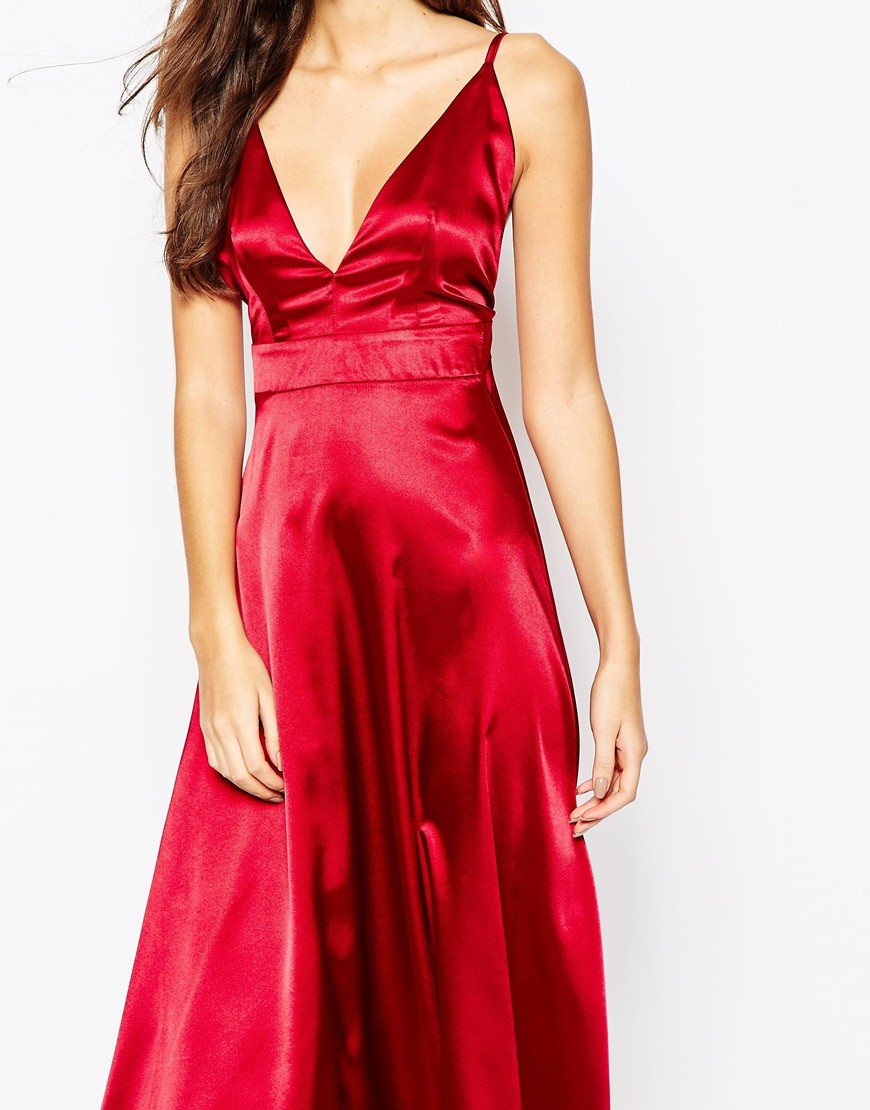 Oh My Love Cami Maxi Dress In Red Lyst
