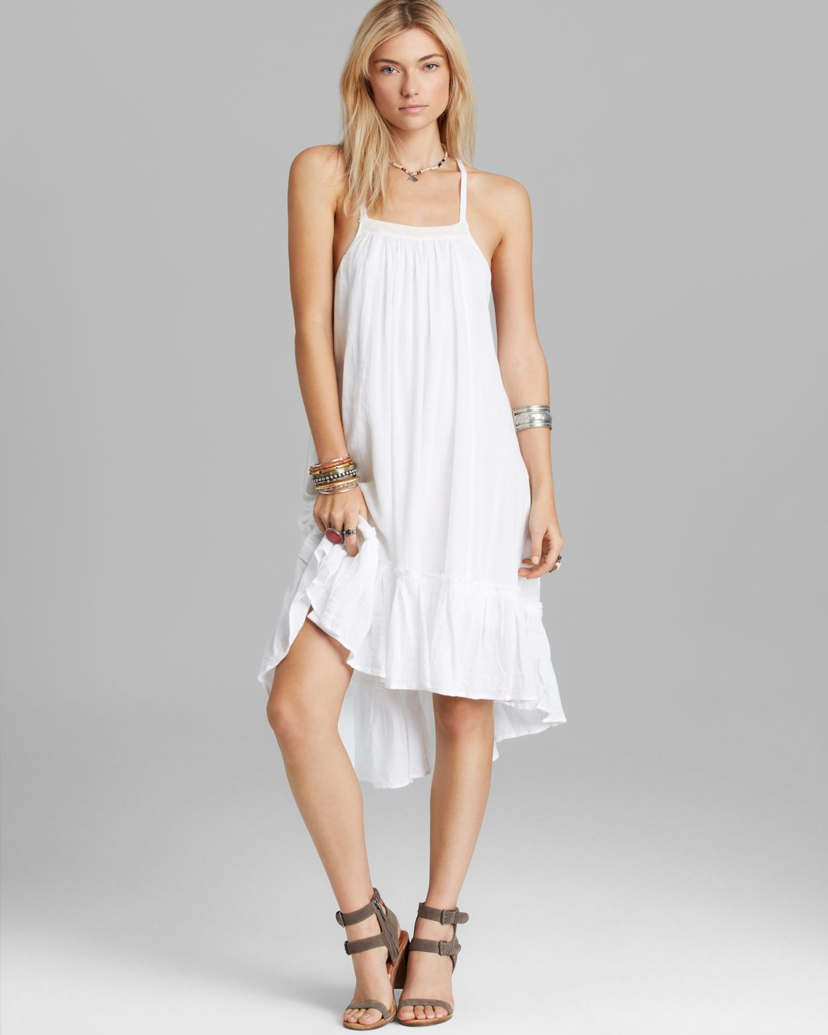 free people dress   solid gauze in white lyst