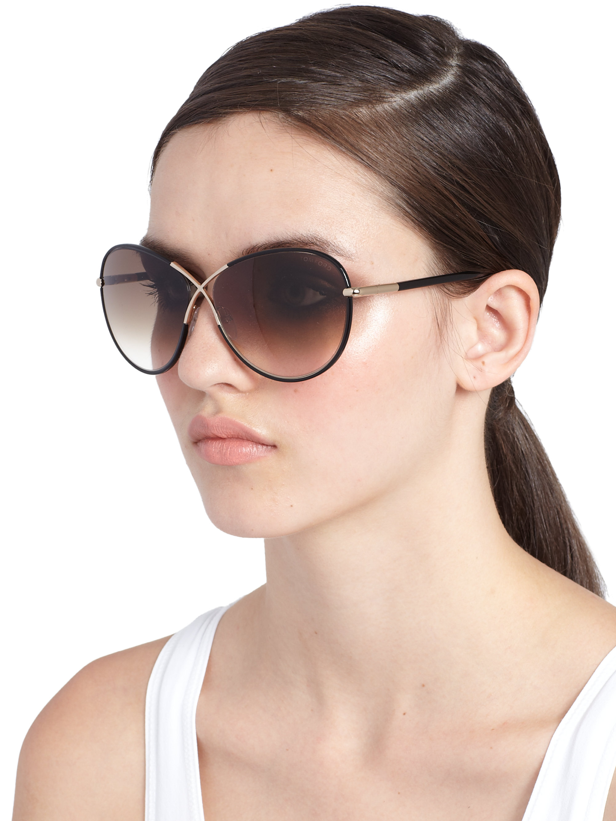Lyst Tom Ford Rosie 62mm Round Sunglasses In Brown