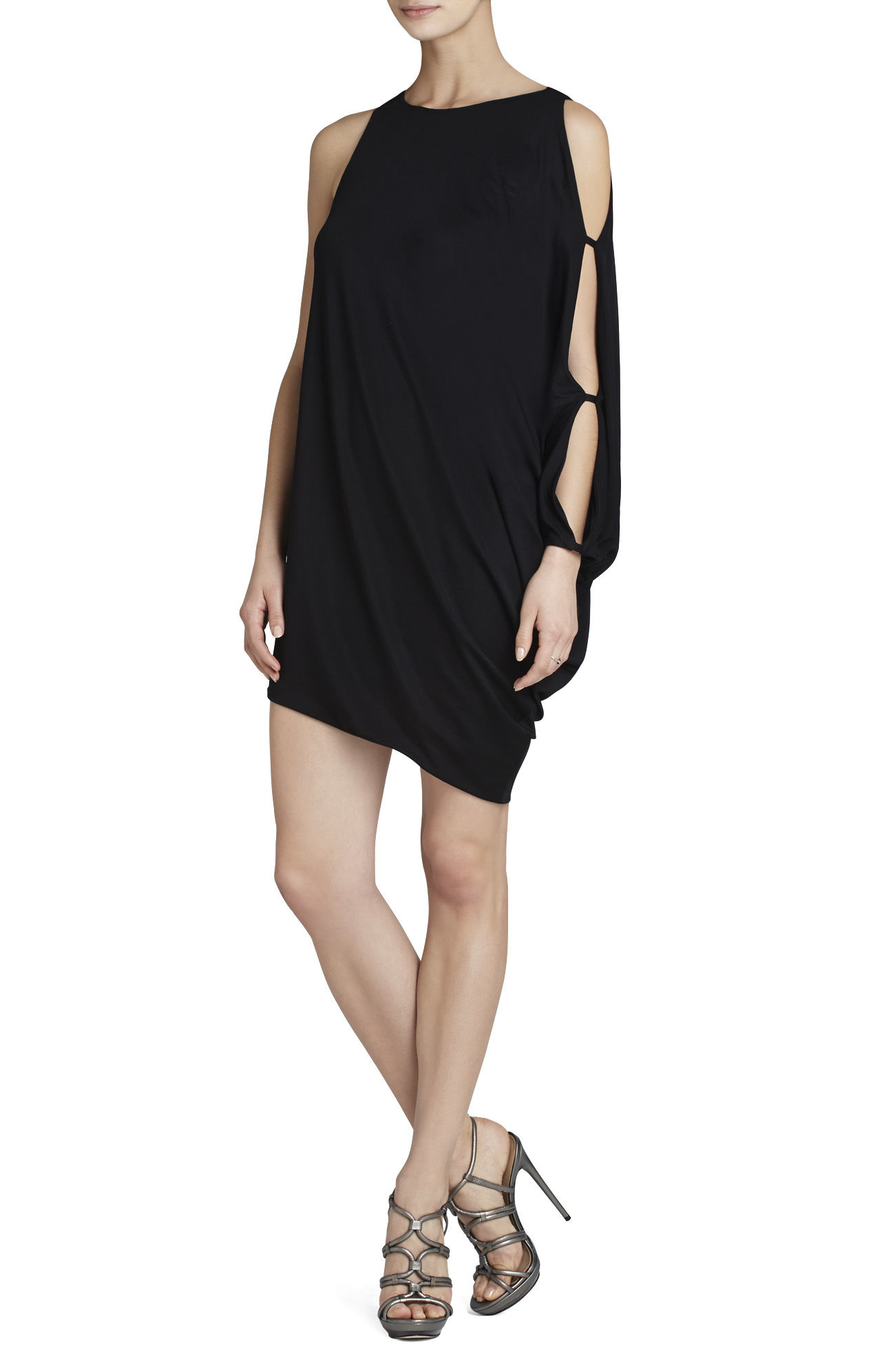 6802f2941f6046 Lyst - BCBGMAXAZRIA Farrow High-heel Strappy Dress Sandal in Gray