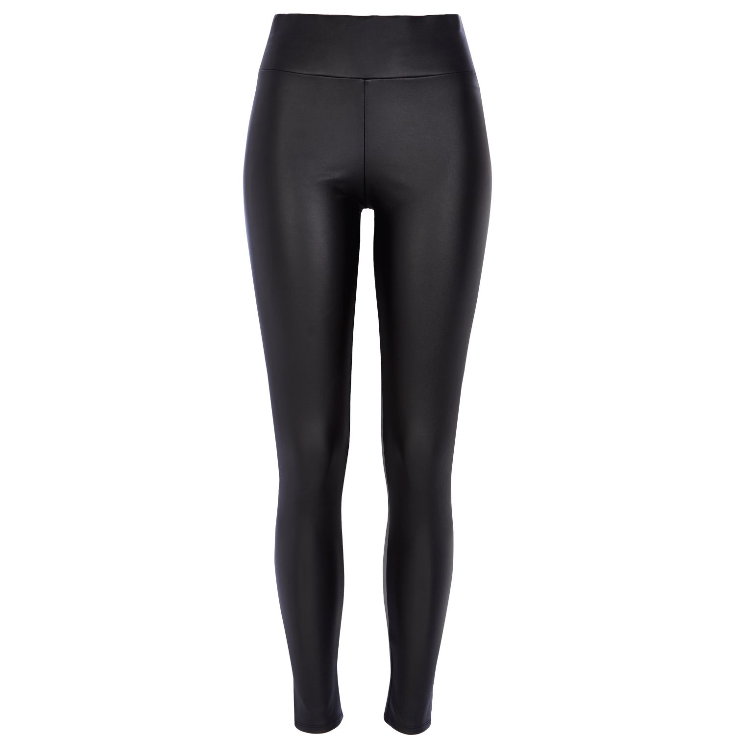 River island Black Coated High Waisted Leggings in Black ...