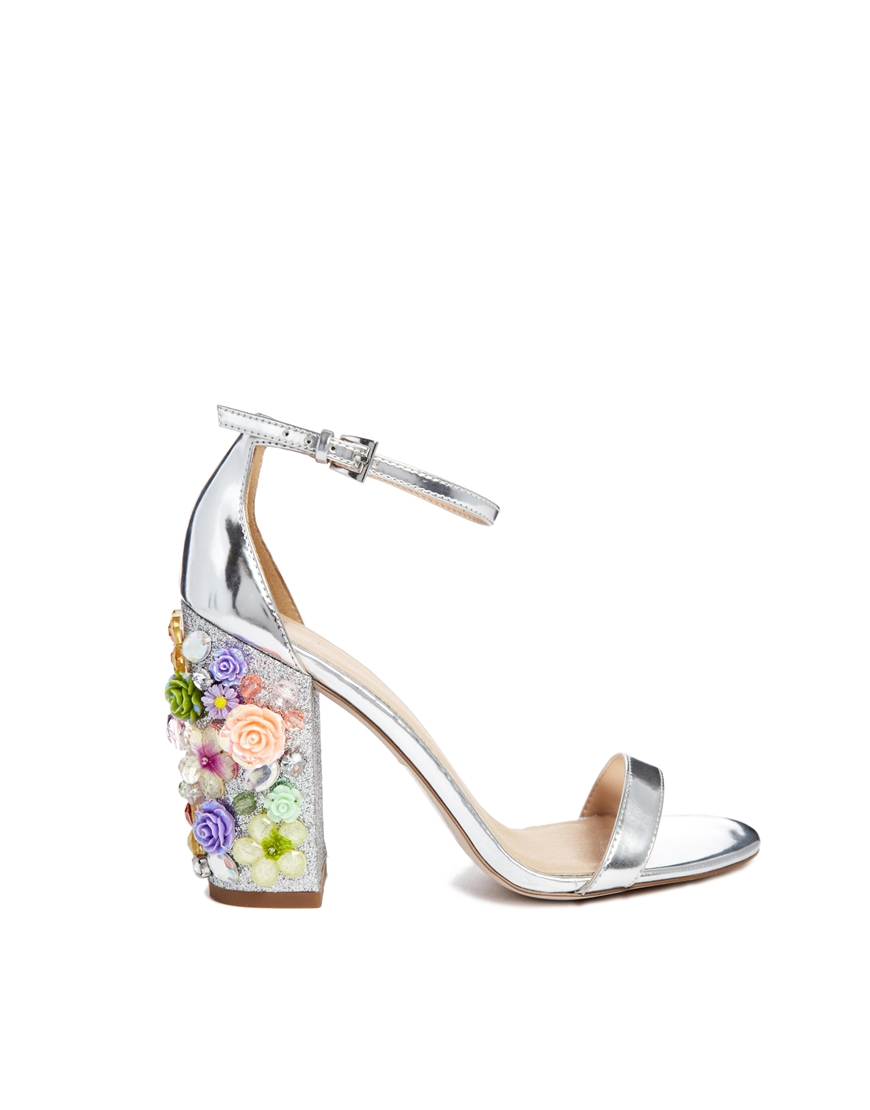 d9cc39920304 Lyst - ASOS Salon Showstopper Heeled Sandals in Metallic